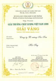 Giải vàng Chất lượng Việt Nam 1999