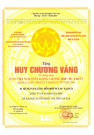 Huy chương Vàng hàng Việt Nam phù hợp Tiêu chuẩn